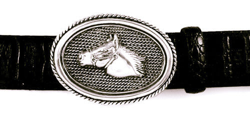 Sterling Horsehead Trophy Buckle
