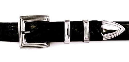 "Sterling ""Lines"" 4 pc. buckle set"