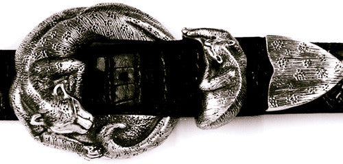 Sterling Jaguar 3 Pc. Buckle