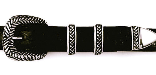 Sterling Braided 4 pc. Buckle Set
