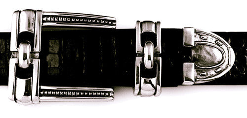 Sterling Equestrian Hardware 3 pc. buckle set