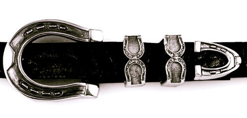 Sterling Horseshoe 4 pc. buckle set