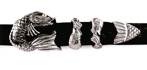 Sterling Koi Fish 4 pc. buckle set
