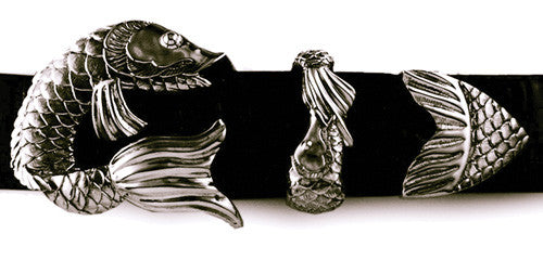 Sterling Koi Fish 3 pc. buckle set