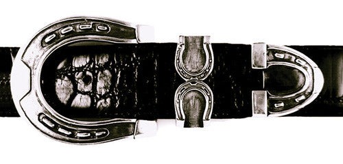 Sterling Horseshoe buckle set