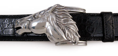 Sterling Running Horse buckle