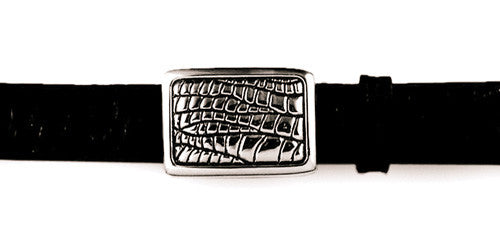 Sterling Alligator Pattern plaque buckle