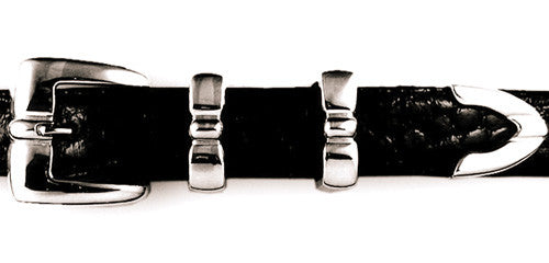 "Sterling ""Bump"" tailored buckle set"