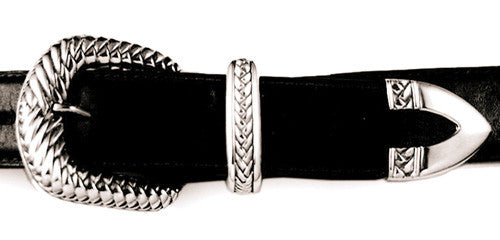 Sterling Braid Motif buckle set