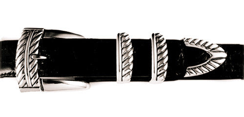"Sterling ""Rope Twist"" buckle set"