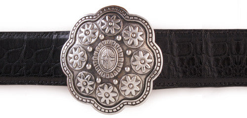 Sterling Tibetan Mandala trophy buckle