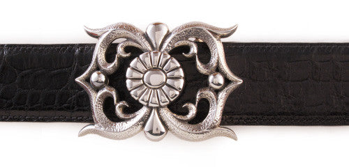 Sterling Open Carved trophy buckle