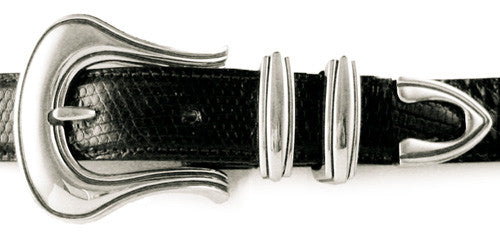Sterling Rounded Lines buckle set
