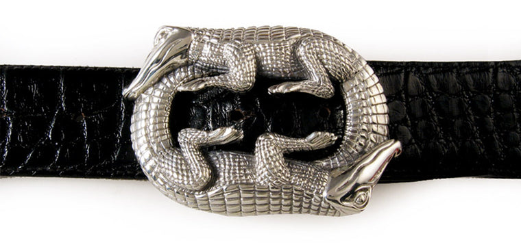 Sterling Double Alligator buckle