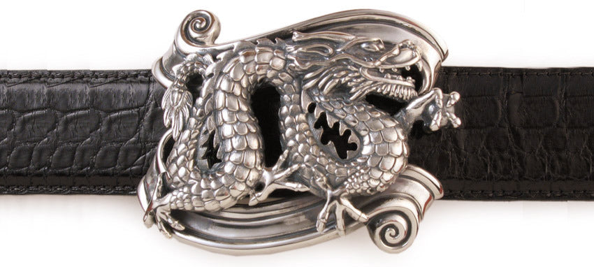 Sterling Dragon on Banner trophy buckle