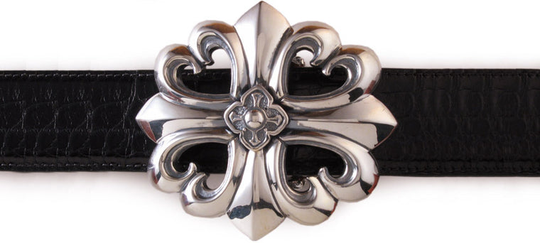 Sterling Gothic Trefoil Cross trophy buckle
