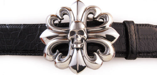 Sterling Trefoil Gothic Cross trophy buckle