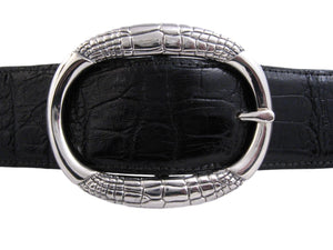 #1333 Alligator Pattern Oval Buckle, 1.5""