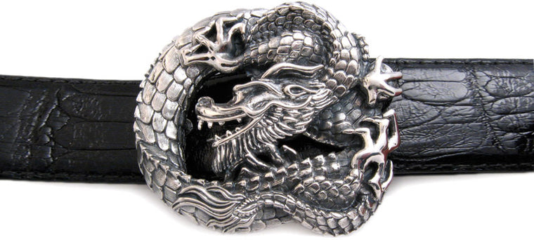 Sterling Dragon trophy buckle