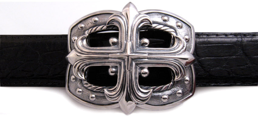 Sterling Gothic Cross trophy buckle
