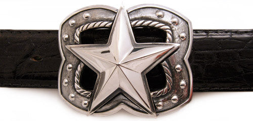 Sterling Big Star trophy buckle