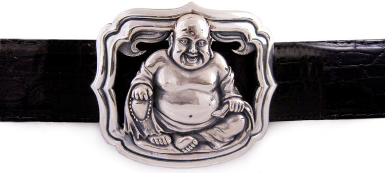 Sterling Buddha trophy buckle
