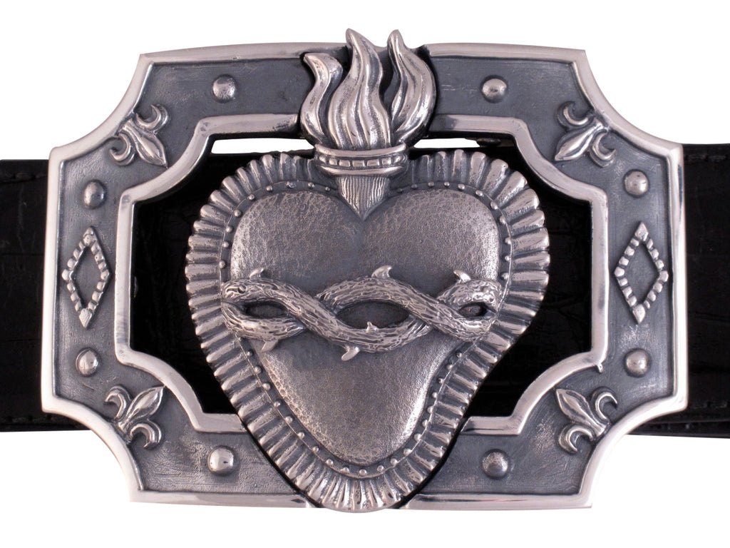 Sterling Corazon Trophy Buckle