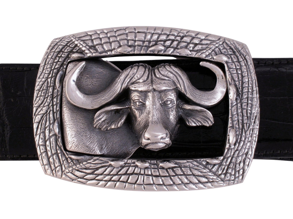 Sterling Cape Buffalo Trophy Buckle