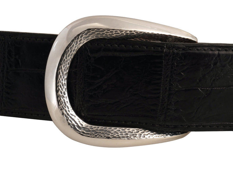 "Sterling Rounded Classic ""Bevel"" buckle"
