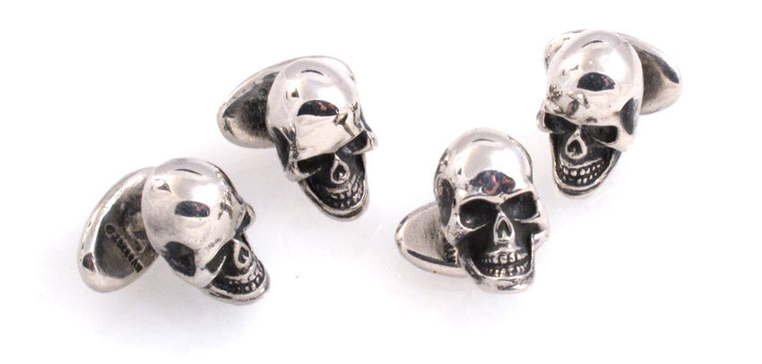 Sterling Skull Stud Set