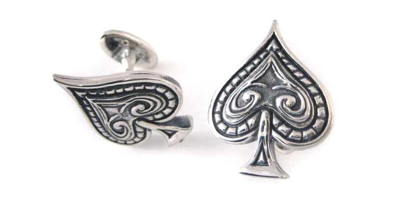 Ace of Spades Cuff Link