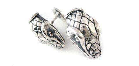 Sterling Snake Head Cufflinks