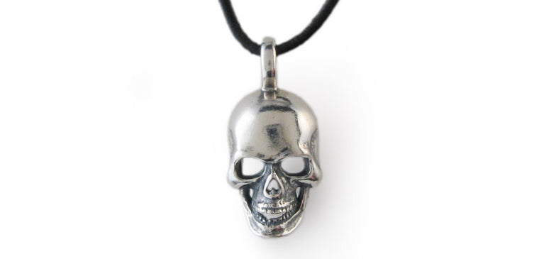 Sterling Small Skull Pendant