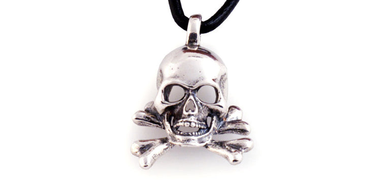 Sterling Skull and Cross Bones pendant