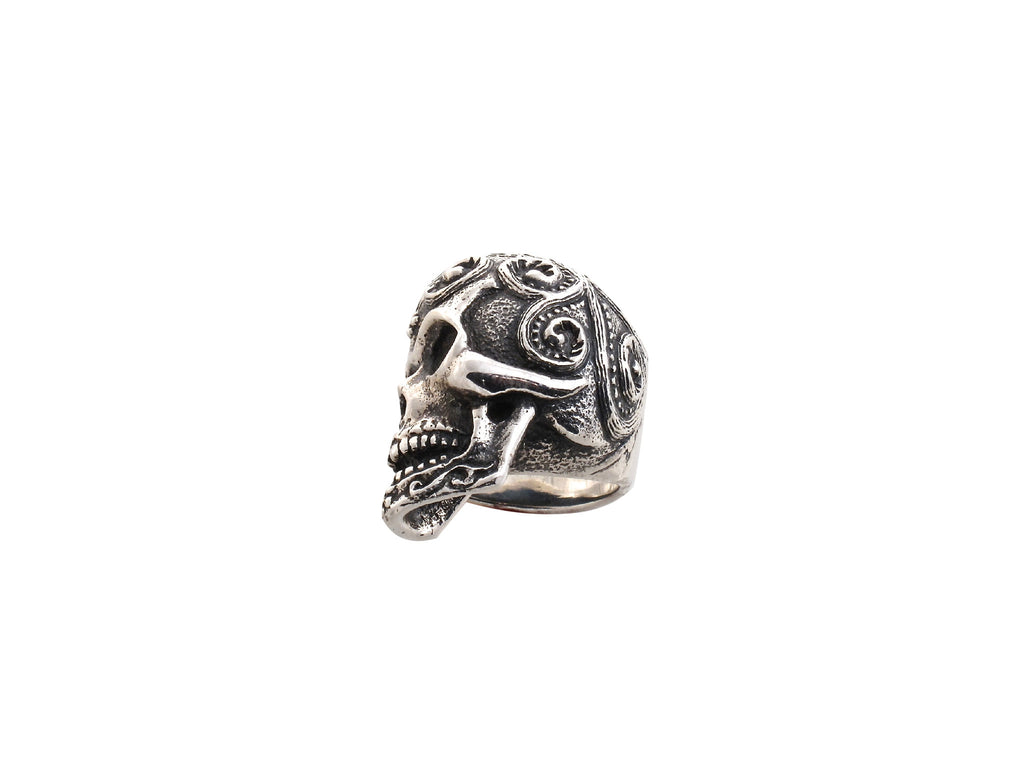 Sterling Sugar Skull Ring