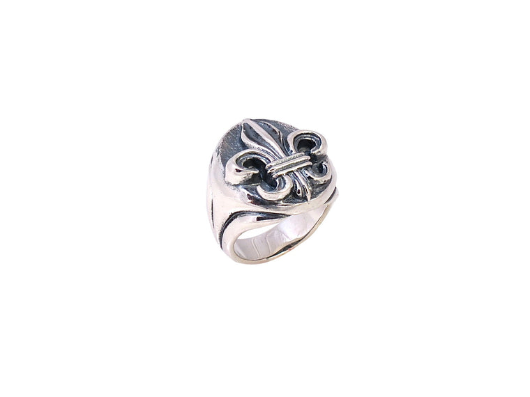 Sterling Small Fleur di Lis Ring