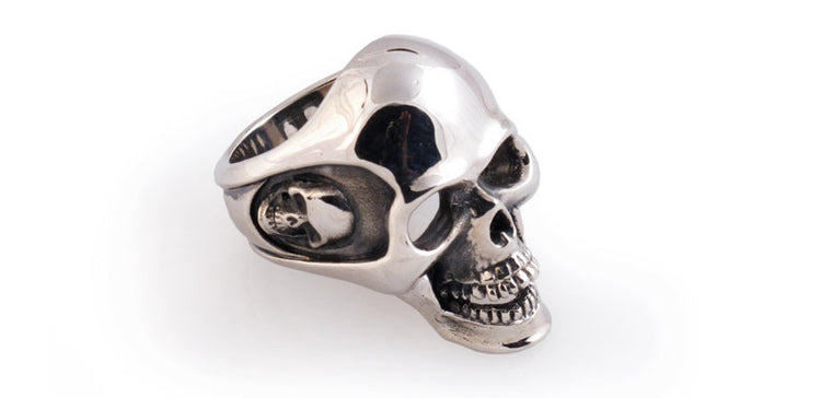Sterling Full Skull Ring
