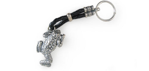 Sterling Frog Key Ring