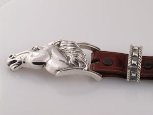 "#1231 Running Horse 1"" 4 Pc. Buckle Set"