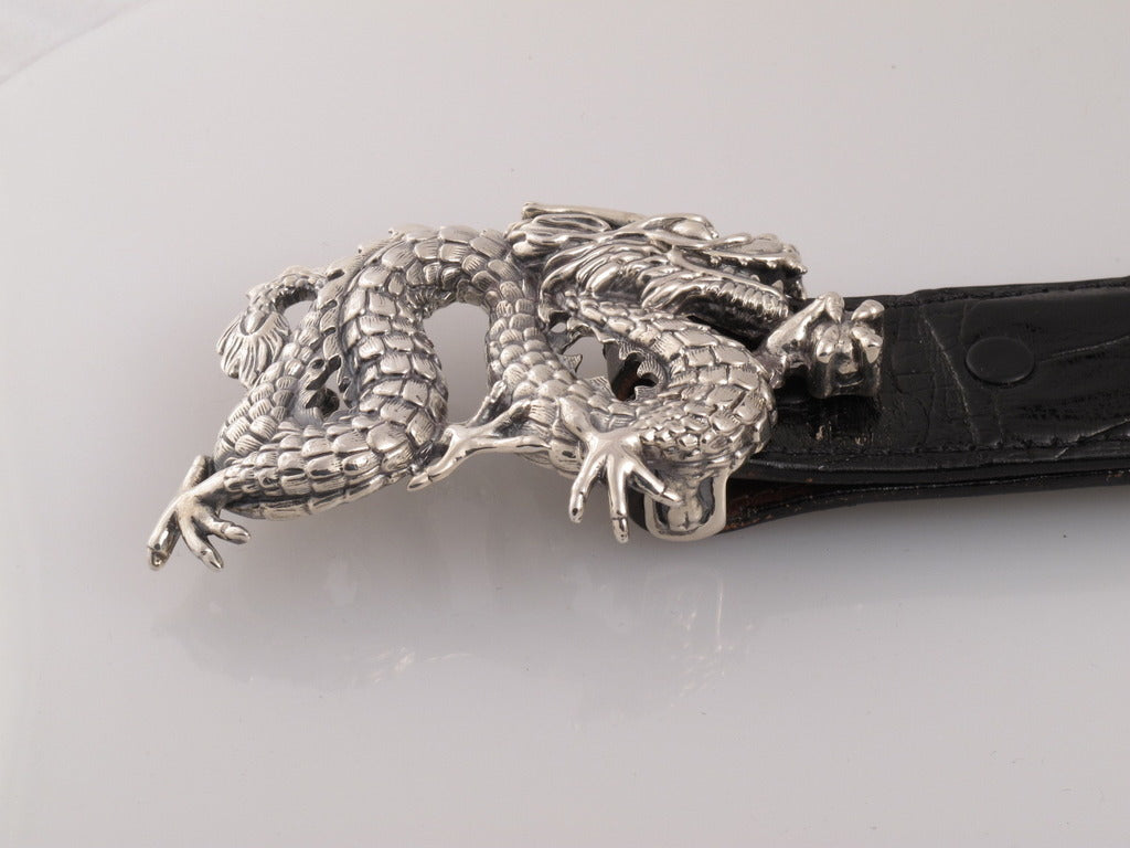 Sterling Dragon buckle side view