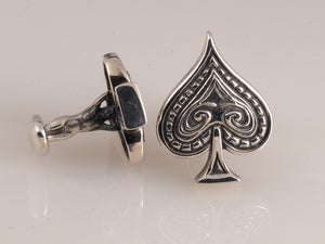 Ace of Spades Cufflink side view