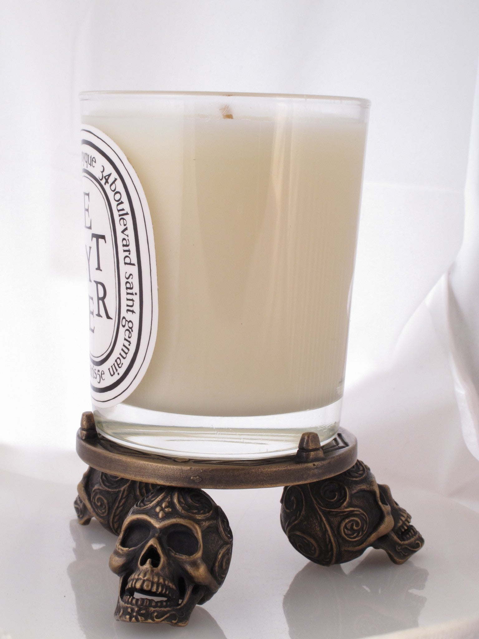 #DH-02 Bronze Triple Skull Candle Base