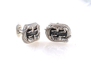 Sterling Double Alligator Cufflink