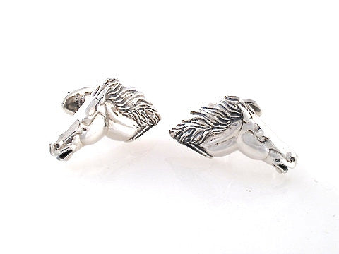 Sterling Running Horse Cufflinks