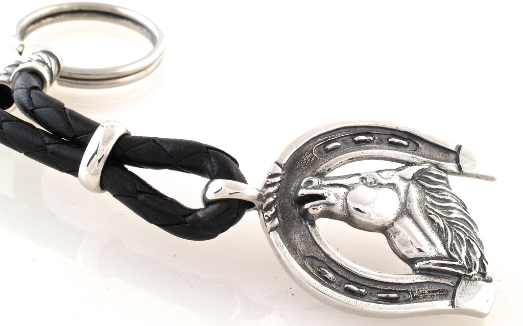 Sterling Running Horse Key Ring