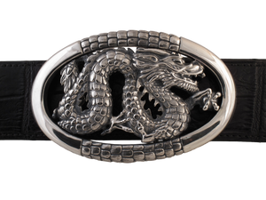 Dragon in Oval Frame trophy buckle