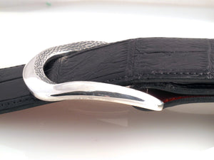 "Sterling Rounded Classic ""Bevel"" buckle side view"