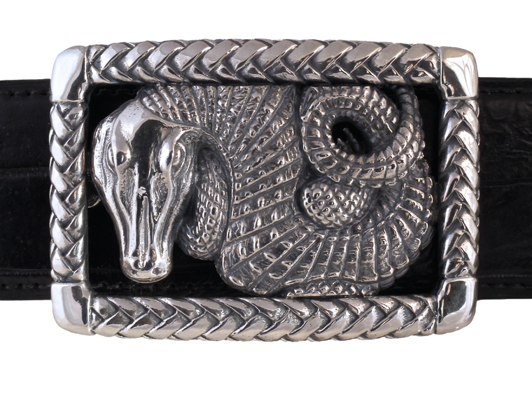 Alligator in Braided Frame trophy buckle