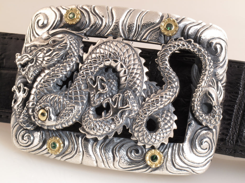 #1366 Custom Dragon w/ Stones Buckle