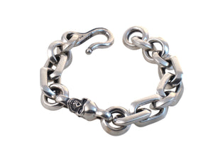 #DB-15 Small Single Skull Chunky Link Bracelet